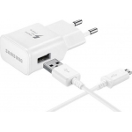 Samsung micro USB Cable & Wall Adapter Λευκό (EP-TA20EWE & ECB-DU4AWE) (Retail)